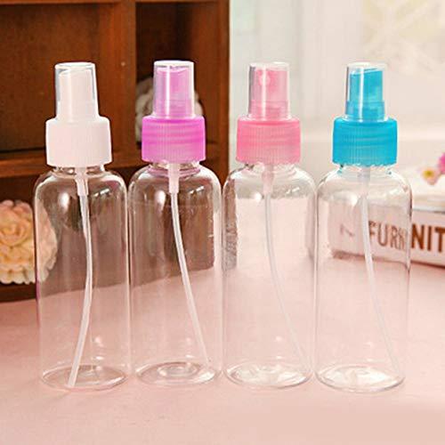 100ml Makeup Kleine Gießkanne Sprühflasche Kosmetische Flasche Feuchtigkeitsspendende Plastikflasche Haustier Transparent Tragbar - Weiß/Blau/Lila - 100ml (Kleine Lila Sprühflasche)
