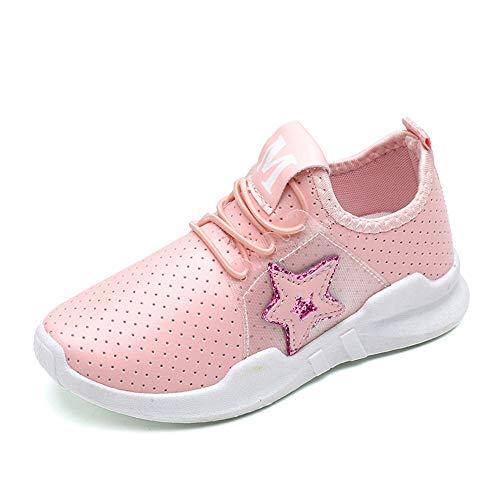 Linlink Unisex-Kinder Sneakers Jungen Mädchen Sneaker Outdoor Schuhe Jungen Turnschuhe Laufschuhe Schnürer Freizeit Schnürer Sportschuhe Sneaker PU Größe 25-36