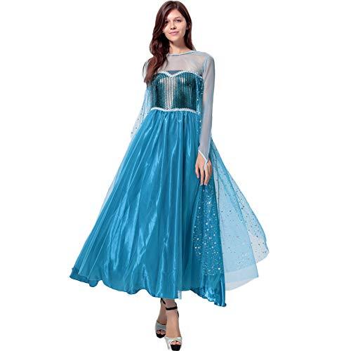 Fanstyle Party Kleid Gefrorenes Kleid Aisha Prinzessin Kleid Organza Blau ()