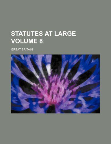 Statutes at large  Volume 8