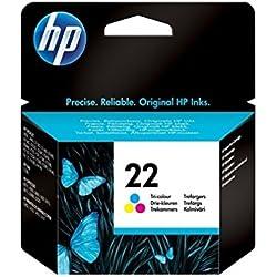 HP 22 - Cartucho de tinta original, tri-color