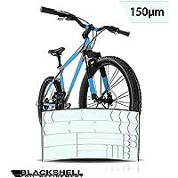 Protector de pantalla para bicicleta de montaña, por ejemplo, BMX, MTB, bicicleta de carretera o bicicleta eléctrica, juego de 24 piezas transparente de protección contra impactos de piedras.
