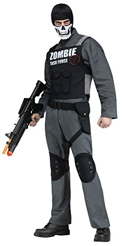 Herren Kostüm Zombie Task Force Gr. L-XL Jäger Hunter Horror Halloween