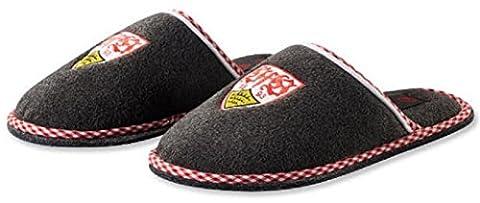 VFB Stuttgart Pantoffeln / Hausschuhe grau meliert mit Wappen verschiedene