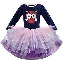OPAKY Vestido de Tutu Princesa Unicornio Arco Iris Fiesta de cumpleaños  Disfraz Bautizo para Niña Vestido 0ce5572b6da