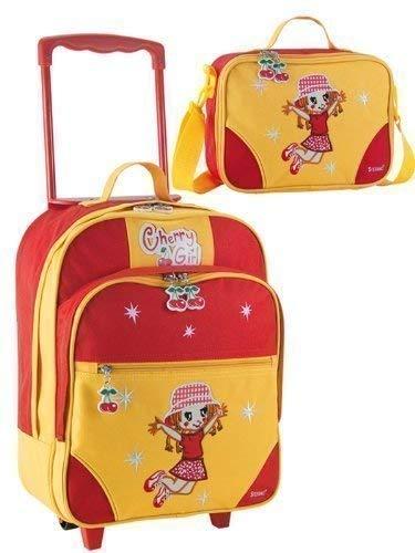Koffer-Experte Cherry Girl Ensemble de sacs à roulettes 2 pièces pour enfant