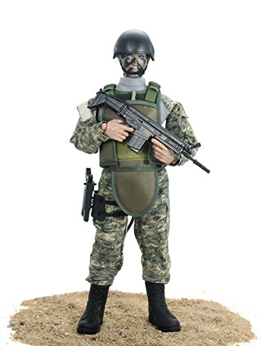 Beallar 12 '' Special Forces Military Armee Kampf Soldat Action Figur Playset- ACU (Armee Action Figur Kostüm)