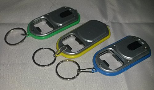 Preisvergleich Produktbild 3 LED Schlüssel-Anhänger -mini-Taschen-Lampe-Leuchte mit Flaschenöffner vom Sachsen Versandd