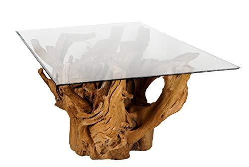 Windalf Table à Racines XL Design Haut de Gamme Table à Manger en Teck Fait à la Main en Bois de Racine 180 cm Hauteur 82 cm