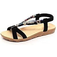 Stoff mit weichen Sohlen Schuhfrauensandelholze flache Perlen Sandalen Fischkopf
