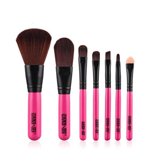 Saingace 7pcs Crème Visage Maquillage Palette Correcteur Pinceau de Maquillage Professionnel Brosses Outils