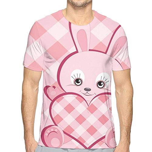 Diamant-streifen-shirt (3D gedruckte T-Shirts, diagonale Streifen-Diamant-Muster-Valentinsgruß-Häschen-riesiges Herz-Plaid-Liebe)