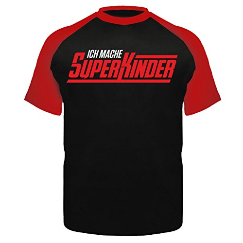 Männer und Herren T-Shirt Weltbester PAPA (mit Rückendruck) Schwarz/Rot