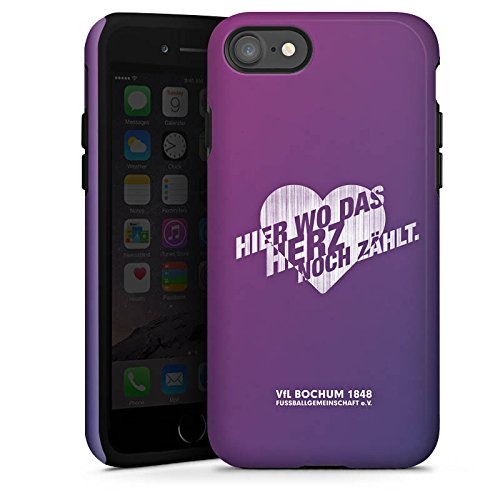 Apple iPhone X Silikon Hülle Case Schutzhülle VfL Bochum Fanartikel Fußball Tough Case glänzend