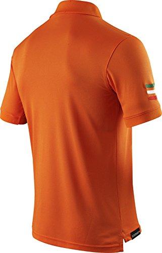 X-BIONIC for AUTOMOBILI LAMBORGHINI Herren Tech Style Pro Man Stripes Flag Ow Short Sleeves Polo Shirt Orange