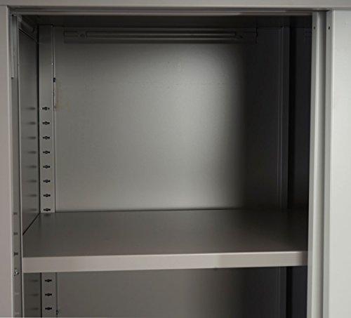 Stahlschrank creme – Stahlschrank mit Schiebetüren – 180 cm - 4