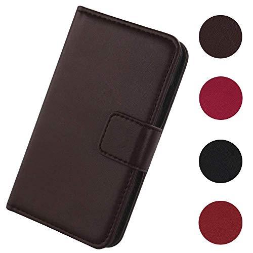 Lankashi Flip Premium Echt Leder Tasche Hülle Für Medion Life E5008 MD 60746 5