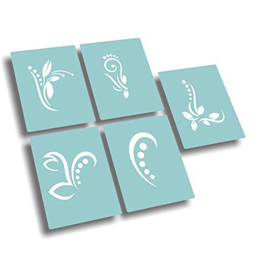 Airbrush Schablonen - Nailart Schablone selbstklebend - Nail Art Stencils im Set