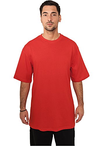 URBAN CLASSICS - Tall Tee (red), Gr. L (Tee Tall Sleeve Long)
