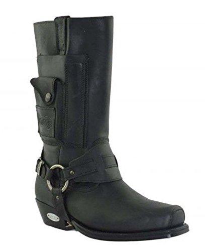 bf5130cb71 LOBLAN 620 Loblan Boots 620 Negro Westernstiefel Damen und Herren Schwarz  Biker stiefe 43