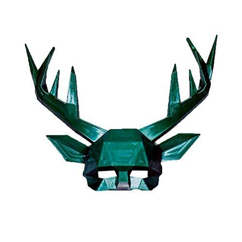 FENGZ Halloween Maske Geweih Masken Festival Kostüm Maskerade Cosplay Foto Prop Tier Deer Half Masks Party Supplies (Tier Maskerade Kostüm)
