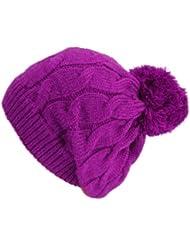 """Bonnet """"Léa"""" avec pompon et le modèle de câble - chapeau d'hiver bonnet de ski de snowboard dames de chapeau chapeau chapeau tricoté tricoté hiver de chapeau casquettes 235/262 Automne / Hiver 2013/14"""