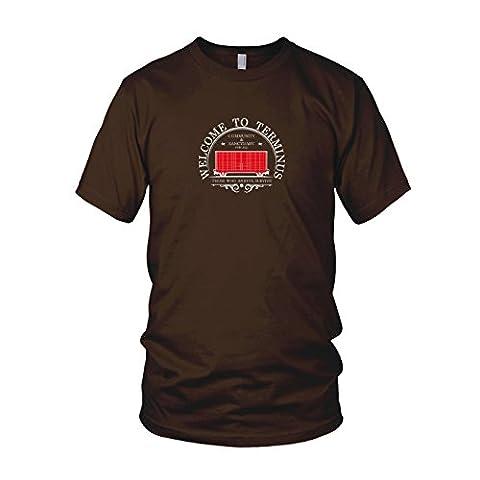 Welcome to Terminus - Herren T-Shirt, Größe: L, Farbe: