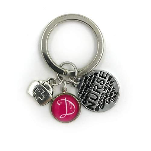 sierte Krankenschwestern Charme Keychain| benutzerdefinierte Schlüsselbund| Krankenschwester Charme| persönliches Geschenk| Krankenschwester Schlüsselanhänger| anfängliche Sc ()