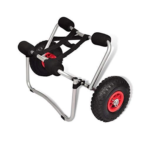 WT Trade Premium Kajakwagen Kanuwagen aus Aluminium klappbar-Faltbar | Kajak Kanu Bootswagen Surfwagen Teleport | Slipwagen