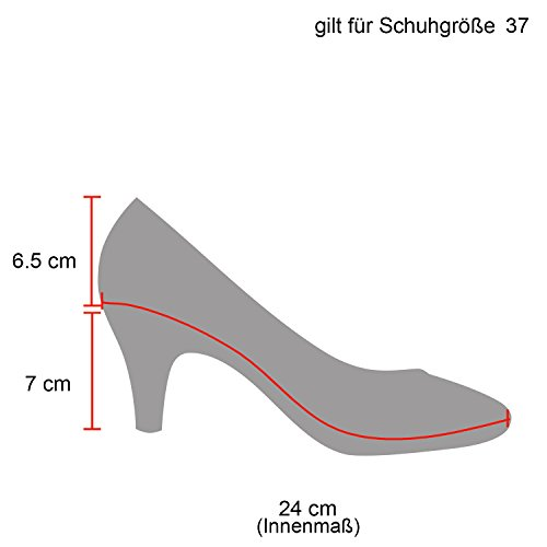 Stiefelparadies Klassische Damen Pumps Strass Glitzer Party Metallic Stilettos Absatz Abend Lack Schuhe 109198 Gold 39 Flandell
