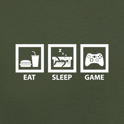 Eat Sleep Game - Herren T-Shirt - 13 Farben Olivgrün