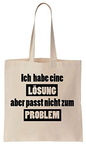 Ich Habe Eine Lösung Aber Passt Nicht Zum Problem Cotton Canvas Tote Bag (Komisch Passt)