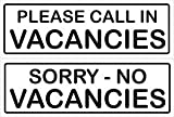 Smarts-Art Vacancies No Vacancies Double Sided Sign 300Mm X 100Mm by Smarts-Art