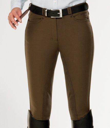 Pfiff Vollbesatz Reithose -Clima- für Damen, aus wärmenden und kühlendem Material, Farbe: braun, Größe 36