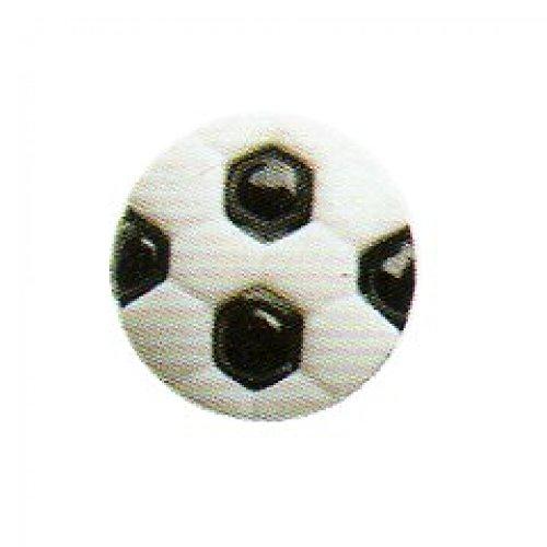 Hemline Shanked bouton &de Football-Blanc/Noir - 13 mm-Lot de 4