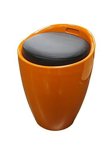 Pouf / tabouret avec coffre de rangement et poignée intégrée