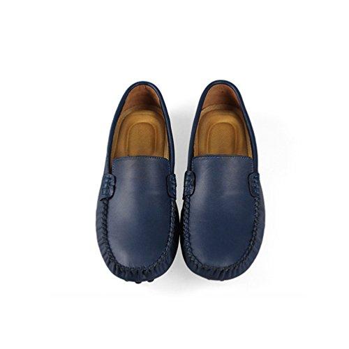 Anguang Hommes Flâneur Au volant Chaussures Décontractée De plein air Mocassins Chaussures Foncé Bleu