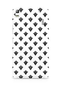 Amez designer printed 3d premium high quality back case cover for Lenovo K3 Note (Black n White Pattern6)