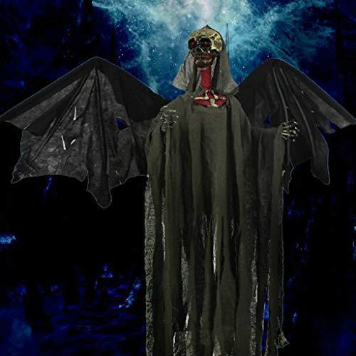 JIBO Horror Control De La Voz del Palo Colgando Fantasma De Halloween Fantasma Festival Bar Casa Embrujada Escena Decoración Apoyos