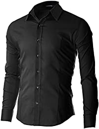 FLATSEVEN Men's Casual Button Down Shirt