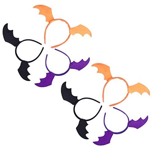 Kostüm Haar Fledermaus - Lurrose 6 x Fledermausflügel-Haarbänder für Halloween, Cosplay, Kostüm, Haar-Accessoire für Halloween, Partys, Geschenke