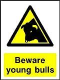 Vorsicht vor Young Bull Landschaft & Landwirtschaft Hinweisschild Vinyl Aufkleber Best auf eBay