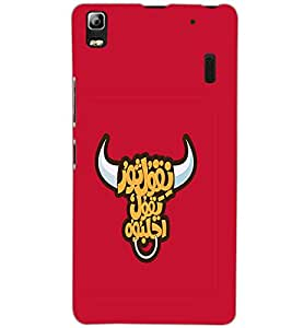 LENOVO A 7000 TURBO BULL Back Cover by PRINTSWAG