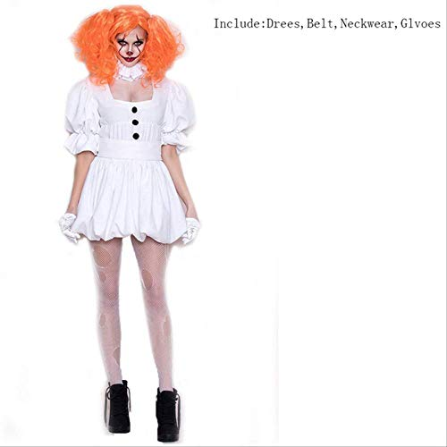 CHNWSJ Kostüm for Halloween-Kostüm-Erwachsen-Kostüm Frauen Sexy Clown-Kostüm for Halloween Outfit Anzug M nur (Berühmte Tv Paare Kostüm)