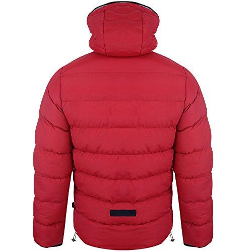 Gilet Hommes Bellfield Neuf Capuche Décontracté Mode Doudoune Sans Manche Chaud Hiver Manteau Rouge