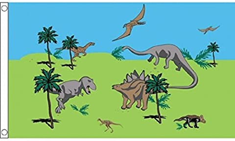 Dinosaur Jurrasic Park Drapeau 1,5x 0,9m (150cm x 90cm) Drapeau