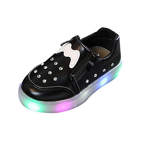 cinnamou Mode Herbst Und Winter Kinder Mädchen Jungen Warme Strass LED Blinkende Weichen Sportschuhe Turnschuhe Beleuchtung Schuhe Kurze Stiefel