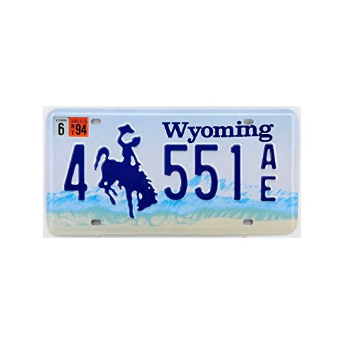 Plaque américaine USA licence plate WYOMING Rodeo