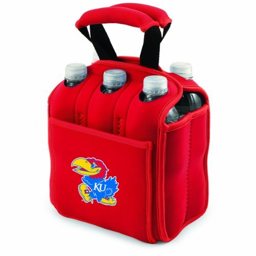 ncaa-kansas-jayhawks-six-pack-cooler-tote-by-picnic-time