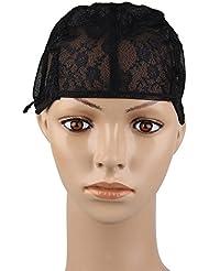 Beauty7 Wig Cap Cap de Perruque Chapeau pour Extension de Cheveux Filet A Cheveux Chapeaux Bonnet Perruque Deguisement DIY